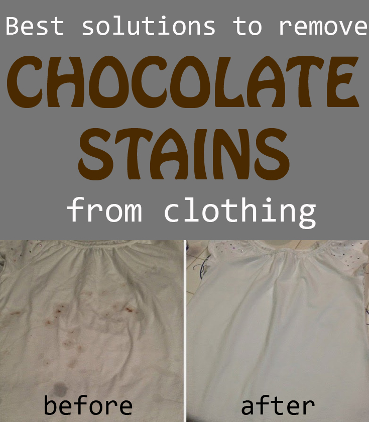 Best solutions to remove chocolate stains from clothing for How to remove ink stain from cotton shirt