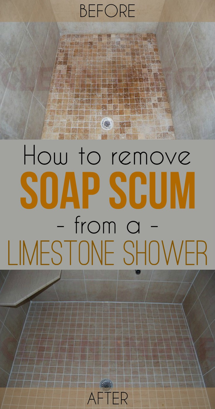 How To Remove Soap Scum From A Limestone Shower Cleaning
