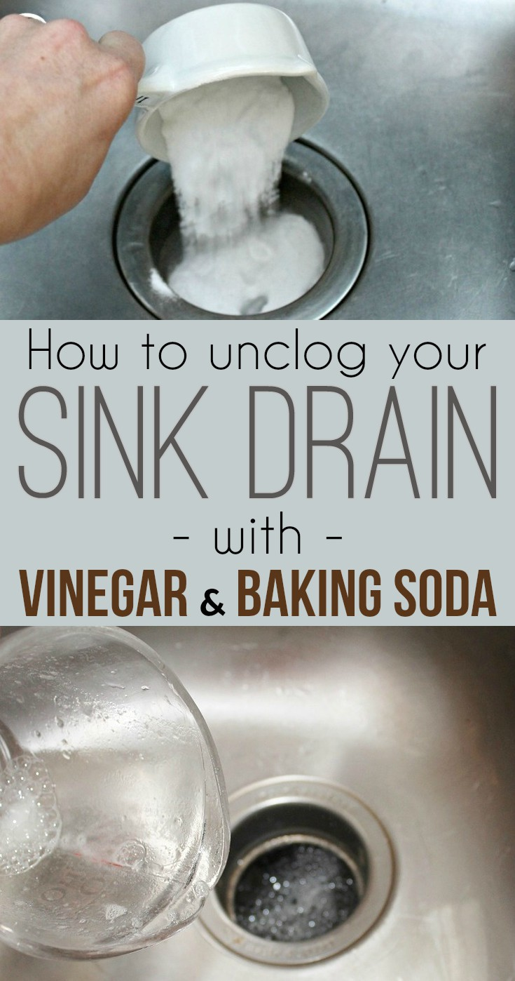 How To Unclog A Sink Drain With Baking Soda And Vinegar