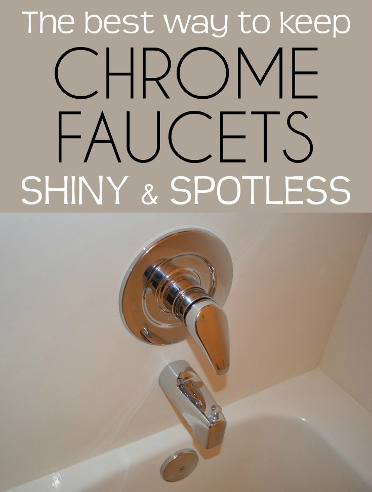 The best way to keep chrome faucets shiny and spotless - Cleaning ...