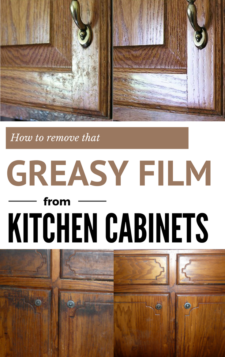 How to remove that greasy film from kitchen cabinets cleaning - How to remove grease stains from kitchen cabinets ...