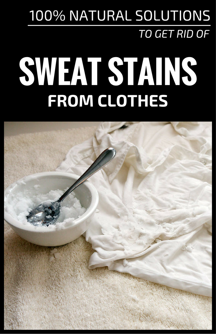 100 Natural Solutions To Get Rid Of Sweat Stains From