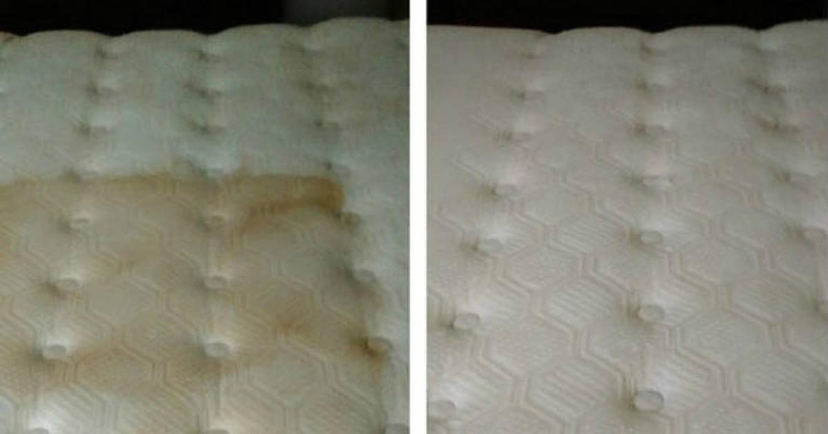 how to get rid of water stains on mattress