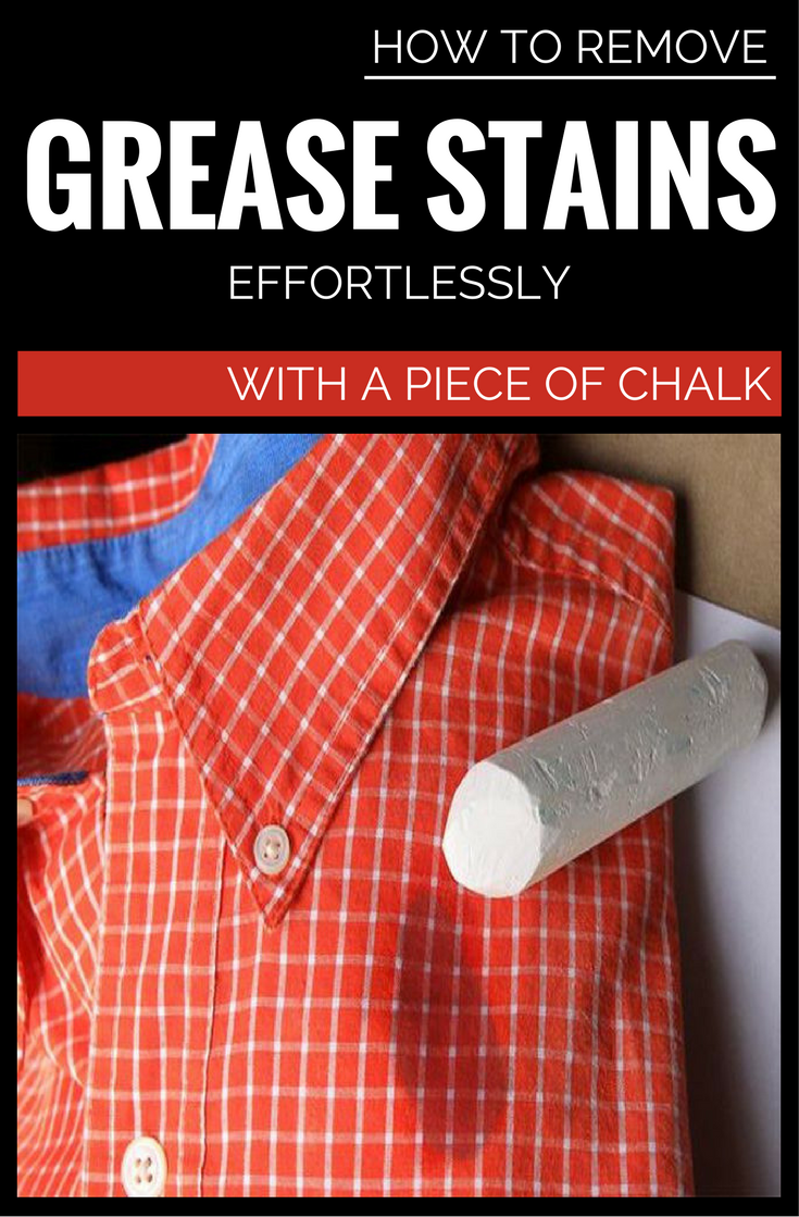 How To Remove Grease Stains Effortlessly With A Piece Of