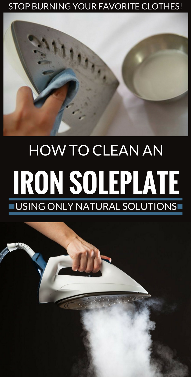 How to clean the soleplate of an iron