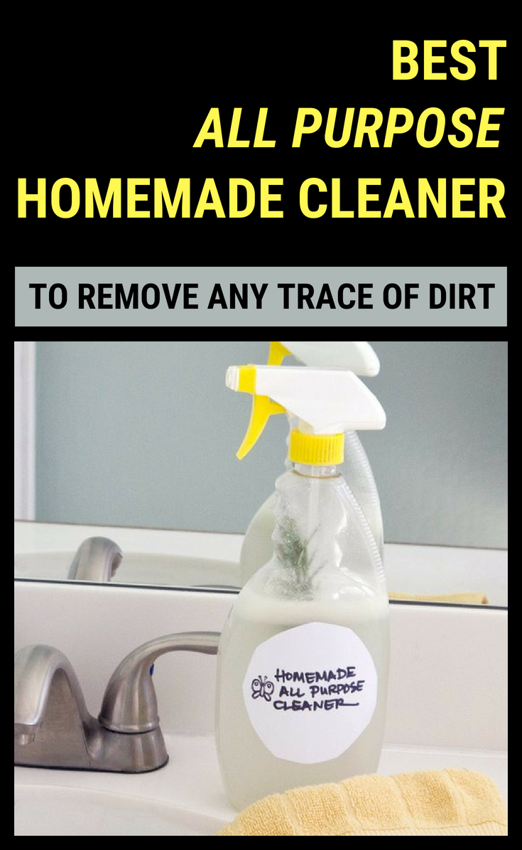 Best All Purpose Homemade Cleaner To Remove Any Trace Of